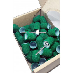 50 pcs, ∅ 13mm, 80 Grit, Medium, MULTIBOR PEDICURE SANDING CAPS, 20.000 rpm.