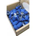 50 pcs, ∅ 13mm, 150 Grit, Fine, MULTIBOR PEDICURE SANDING CAPS Blue
