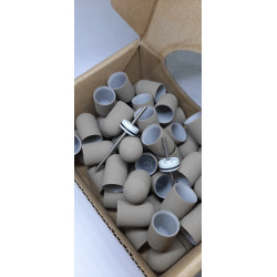 50 pcs, ∅ 13mm, 180 Grit, Super, MULTIBOR PEDICURE SANDING CAPS Gray