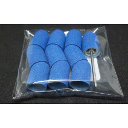 10 pcs, ∅ 13mm, 150 Grit, Fine, MULTIBOR PEDICURE SANDING CAPS Blue