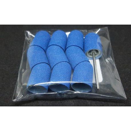 10 pcs, ∅ 13mm, 150 Grit, Fine, MULTIBOR PEDICURE SANDING CAPS Blue