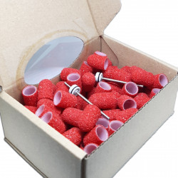 100 pcs ∅ 10mm, 40 Grit, Coarse, MULTIBOR PEDICURE CAPS, 20.000 rpm. Professional High Quality