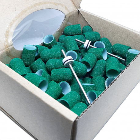 C10G, 100 pcs, ∅ 10mm, 80 Grit, MULTIBOR PEDICURE CAPS, 25.000 rpm. Professional High Quality